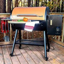 Landmann Large Wood Pellet Grill & Smoker Rolling BBQ Electr