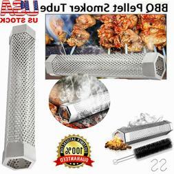 "12"" Useful Smoker Pellet BBQ Grill Hot/Cold Smoking Generato"