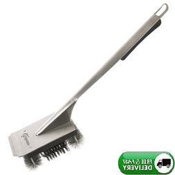 "18"" BBQ Grill Brush Steel Bristles For Charcoal Pellet Inf"