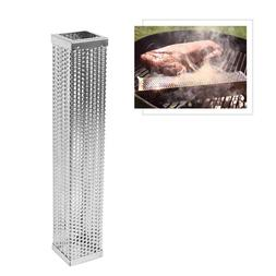 1Pc Cuboid Durable Safe 12 Inch Pellet Tube Smoker for Grill