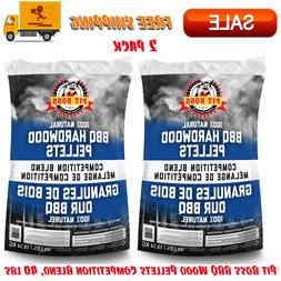 2 Pack Pit Boss BBQ Wood Pellets Competition Blend, 40 lbs,