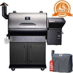 Z GRILLS 2019 Deluxe Wood Fired Pellet Outdoor 8 in 1 BBQ Sm