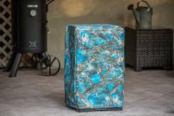 masterbuilt 30-inch electric smoker cover in true timber blu