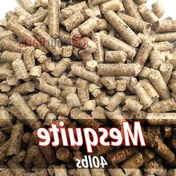 40lbs Of 100% Pure Mesquite Wood Cooking BBQ Pellets Smoker