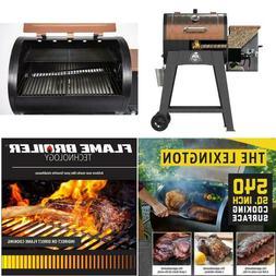 500-sq in Stainless Steel Wood Pellet Grill w/ Flame Broiler