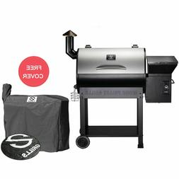 700SQ.in Wood Pellet Grill Smoker Camp Stainless Steel Barbe