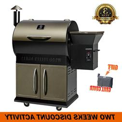 700SQ.in Wood Pellet Smoker BBQ Grill Cover w /Digital Contr