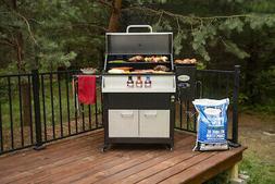 Louisiana Grills 800 Elite Wood Pellet Smoker Grill Cart wit