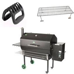 Green Mountain Grill Jim Bowie Front Shelf, Upper Rack & BBQ