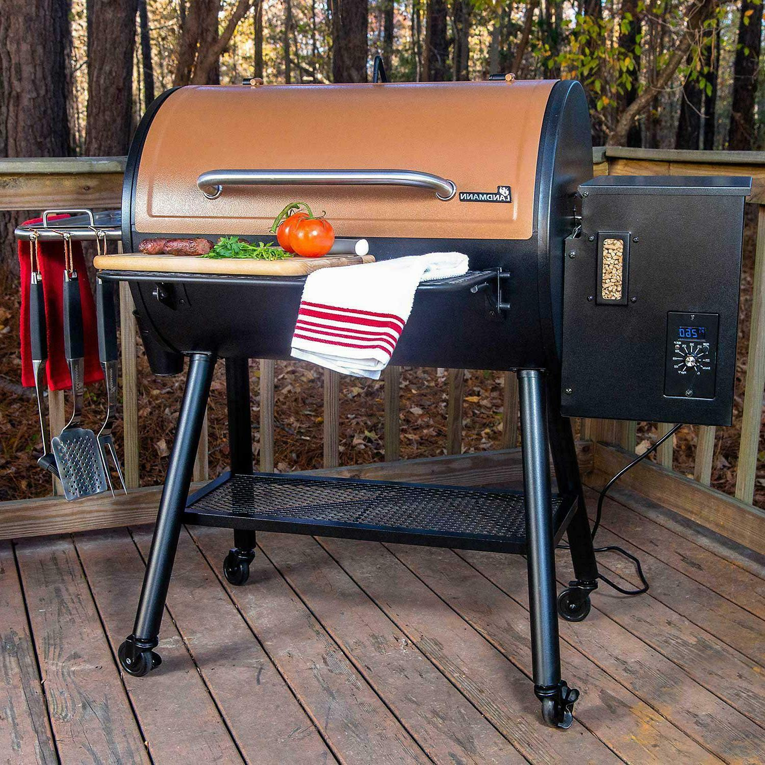 Barrel Pellet Grill 1318 total square Inch cooking area, Coo