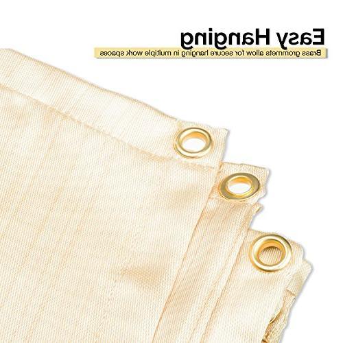 Neiko Duty Fiberglass Blanket Cover with Brass 4' 6',