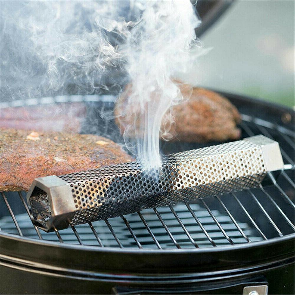 """12"""" Stainless Wood Pellet Grill Filter BBQ"""