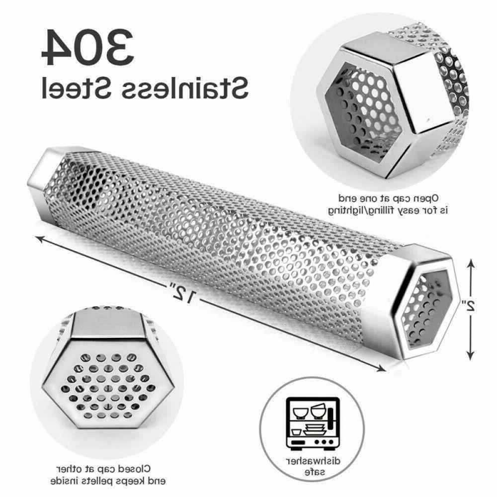 """12"""" Stainless Outdoor Wood Grill Smoker Filter Tube Pipe BBQ"""