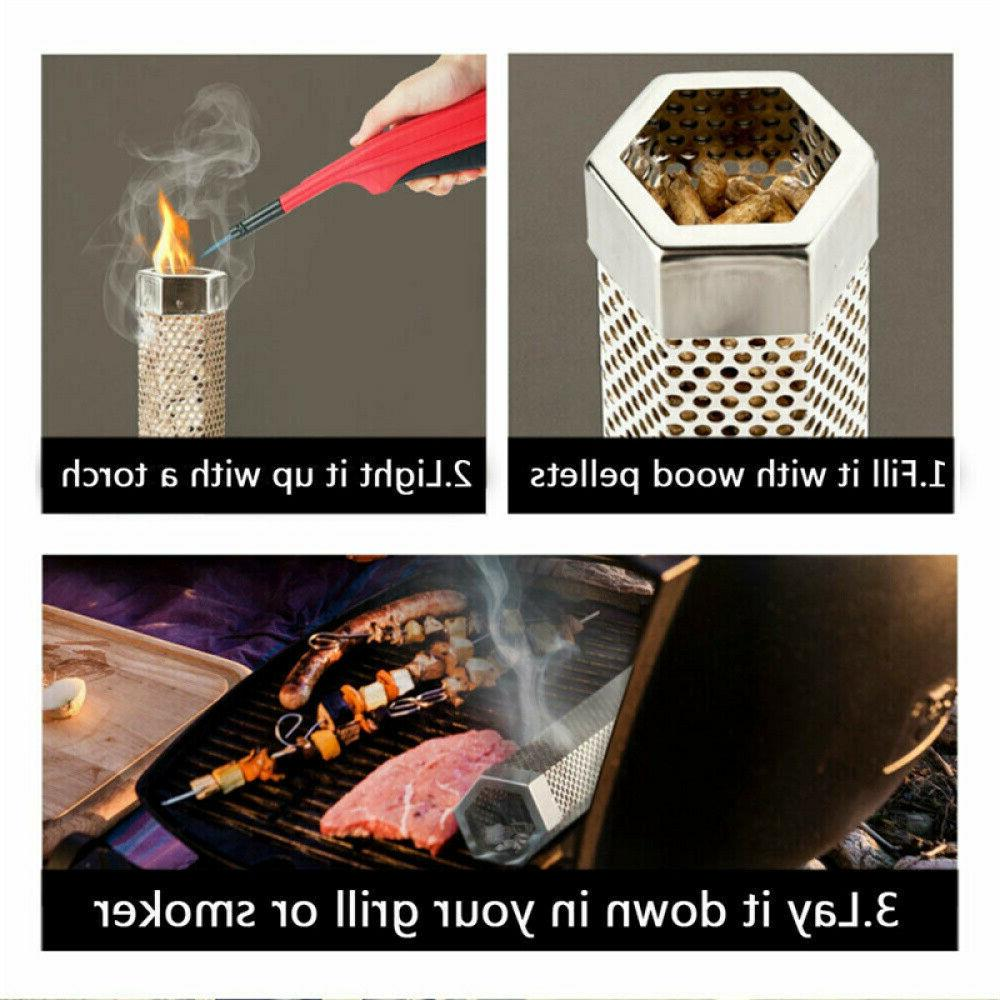"12"" Wood Grill Smoker Filter Smoke BBQ"