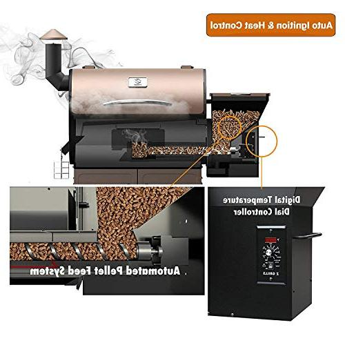 Z GRILLS 2018 Upgrade Deluxe Wood Fired Outdoor in BBQ Smokers/Elite Grill Free Patio Cover