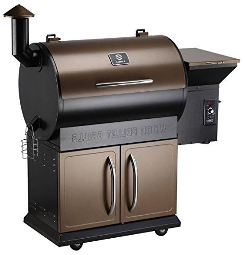 Z GRILLS 2018 Deluxe Fired Pellet Outdoor 8 BBQ Wood Pellet Grill Cabinet, Free Included,