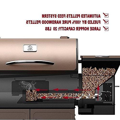 Z GRILLS Deluxe Wood Outdoor in 1 BBQ Smokers/Elite Wood Pellet Grill Free Storage