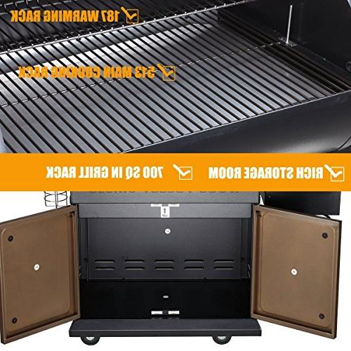 Z GRILLS Upgrade Deluxe Outdoor BBQ Grill with Storage Cabinet, Free Cover