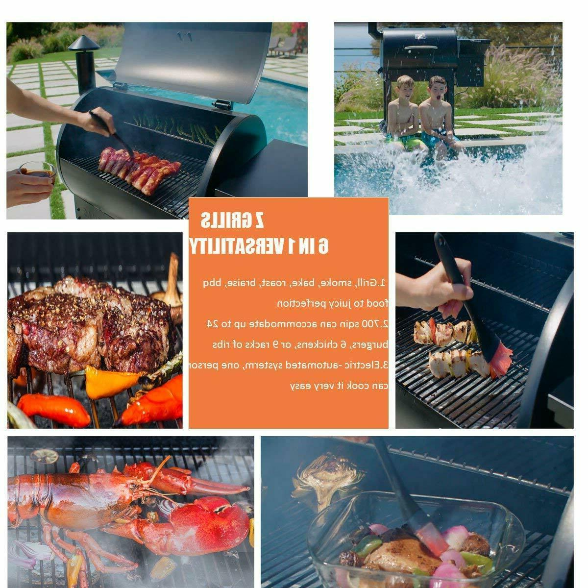 Z Newest Wood Grill & Smoker 7 Electric