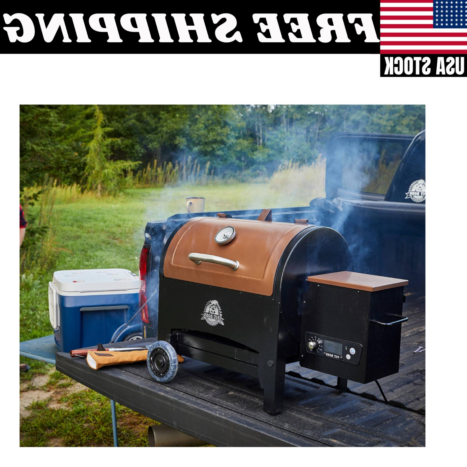 Pit In. Tailgate, Pellet Grill with Folding Legs