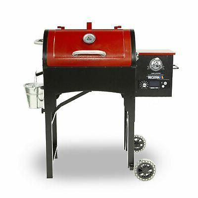 440tg wood fired pellet grill with flame