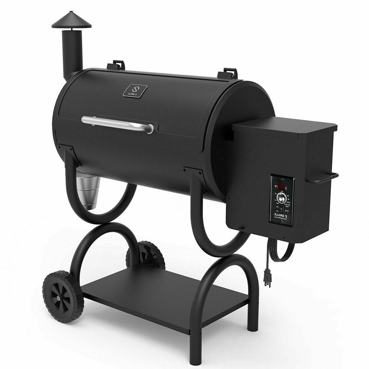 Z GRILLS Wood Grill and Smoker Backyard Digital
