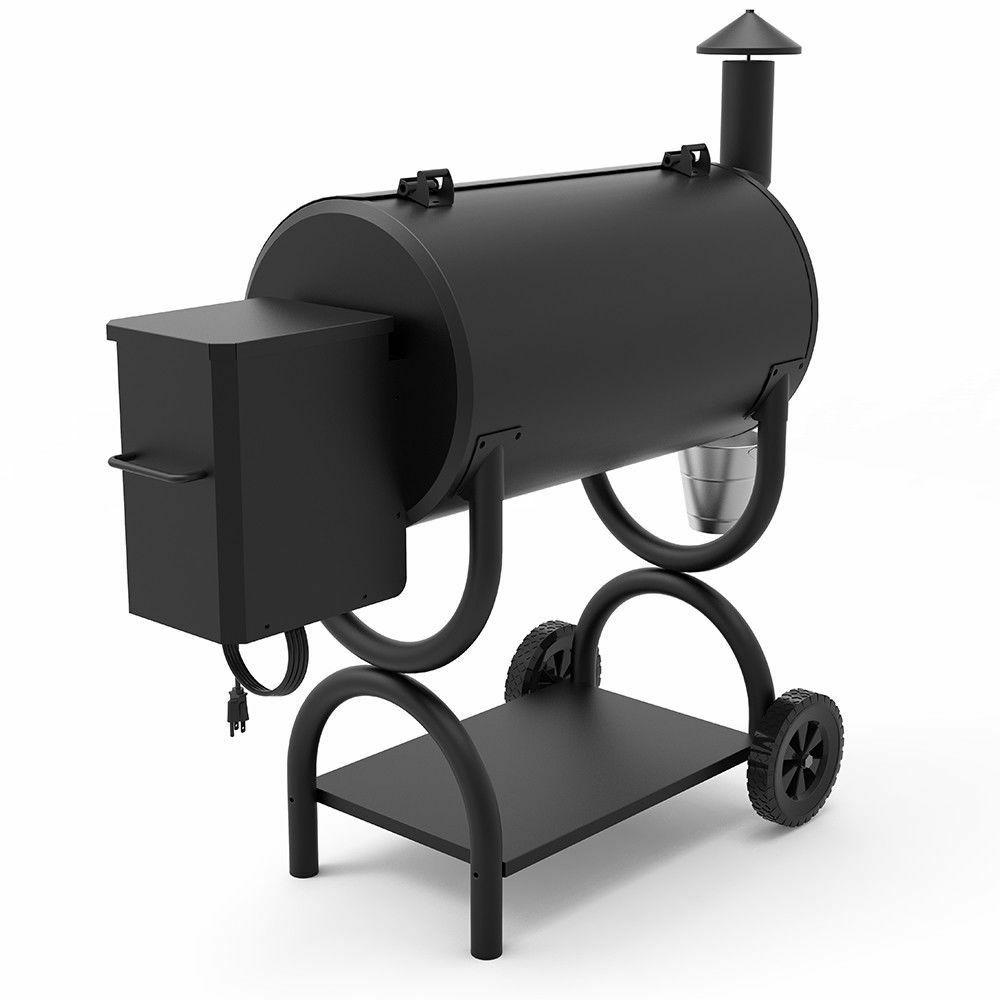 Z GRILLS Wood Pellet Smoker Backyard Controls