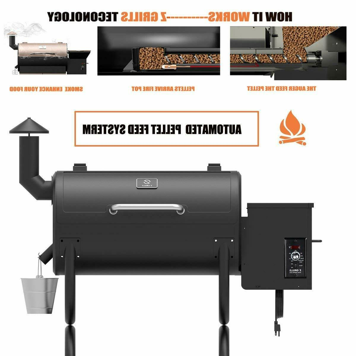 Z ZPG-550B Wood Pellet Smoker 7 in Digital