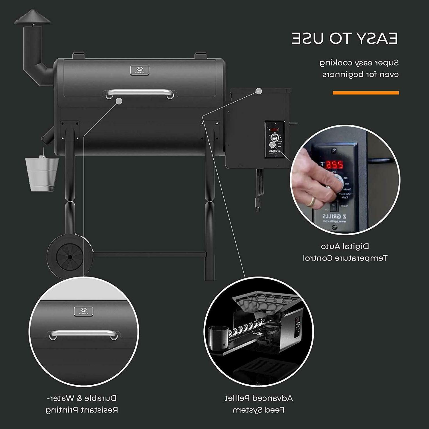 Z ZPG-550B Wood Pellet Grill with Control