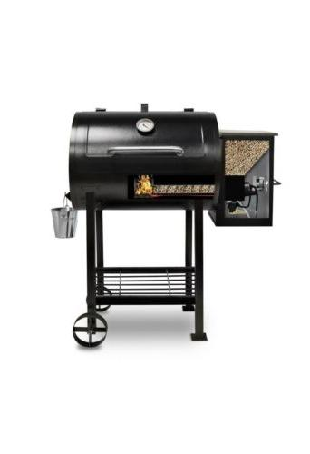 700fb wood fired pellet grill with flame