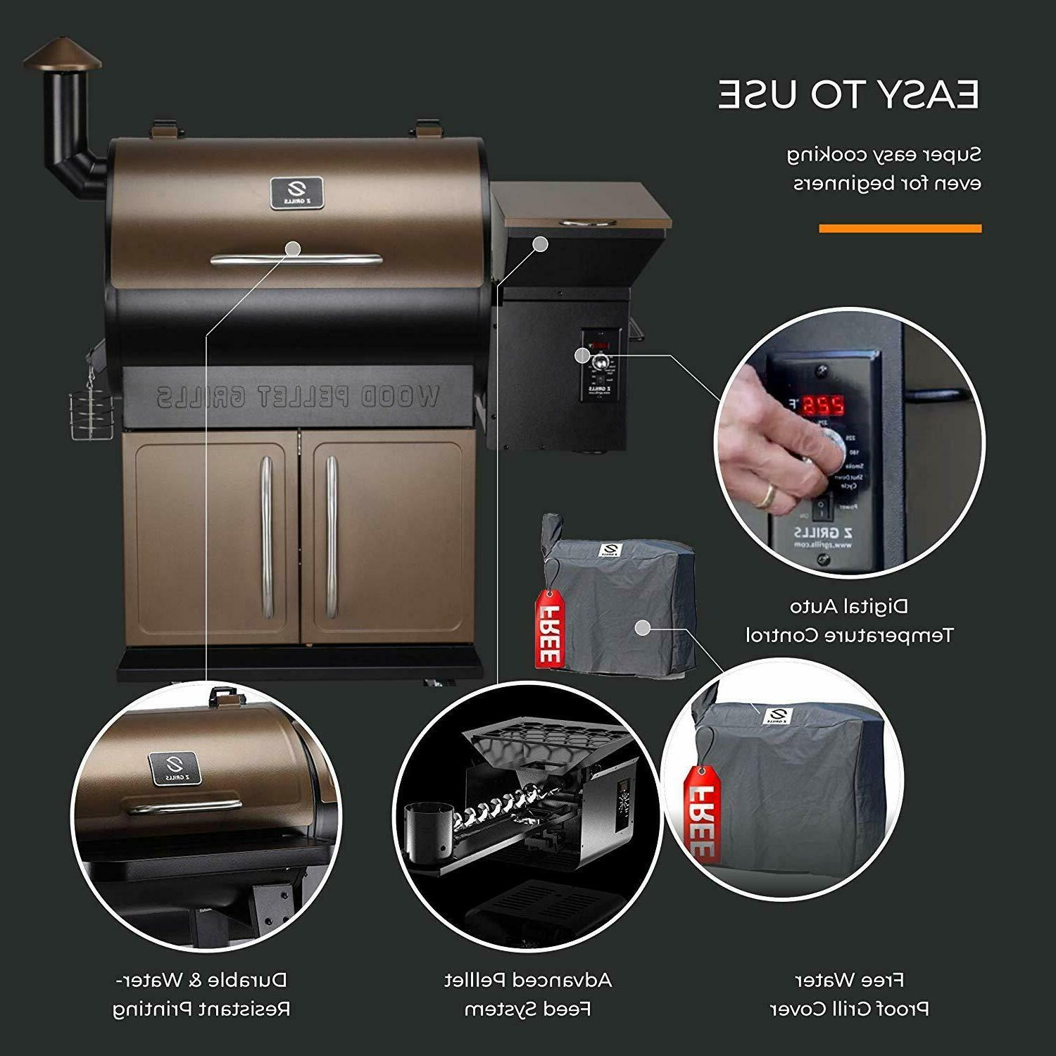 Z GRILLS 2020 Upgrade Wood Grill Smoker for