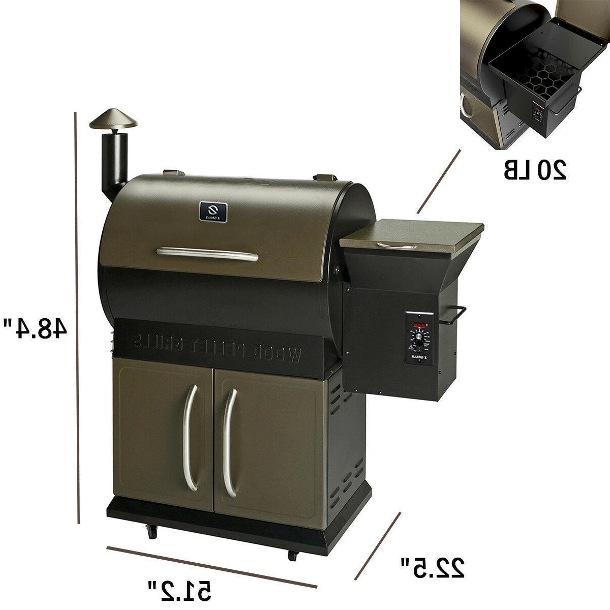 700SQ.in Wood Pellet BBQ Grill w /Digital Controls