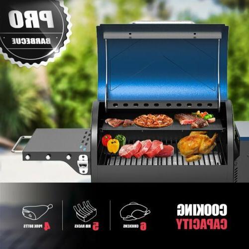 ASMOKE 8 Wood BBQ Smoker Grilling with Digital Control