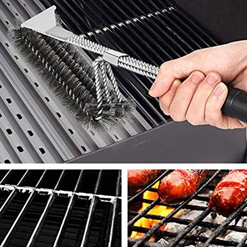 MOORAY Brush Cleaning Scraper Free Grill Resistant Steel
