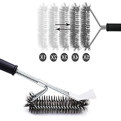 MOORAY Grill Brush Cleaning Safe Free Brush Resistant Stainless Steel