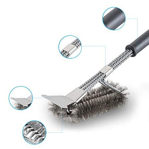 Cleaning Scraper Safe Free Brush Rust Resistant Stainless
