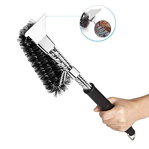 MOORAY Grill BBQ Cleaning Free Barbecue Brush for Resistant Stainless Steel