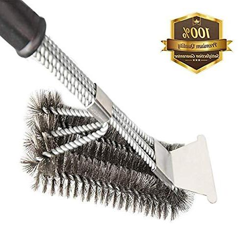 MOORAY Grill Brush BBQ Cleaning Scraper Safe Bristle Free Gr