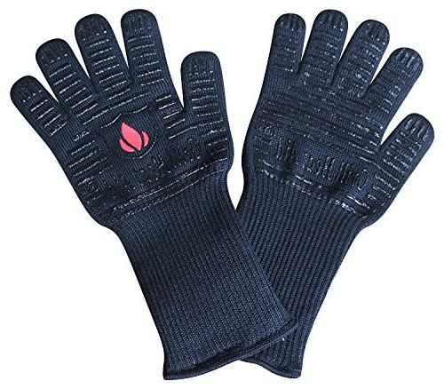 BBQ Gloves Extreme Resistant Baking, Smoking, Cooking, Indoor/Outdoor More Flexibility in Than Up to Long