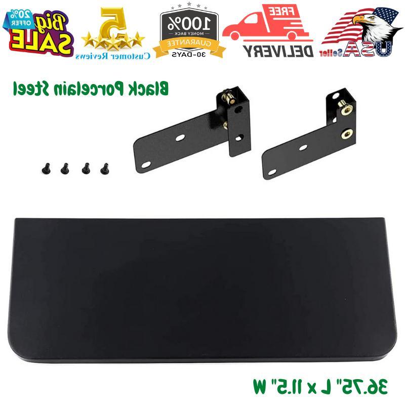 black folding front shelf with bracket fits