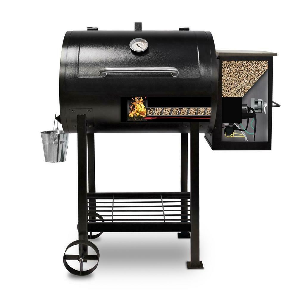 Pit Pellet Flame Broiler Cooking