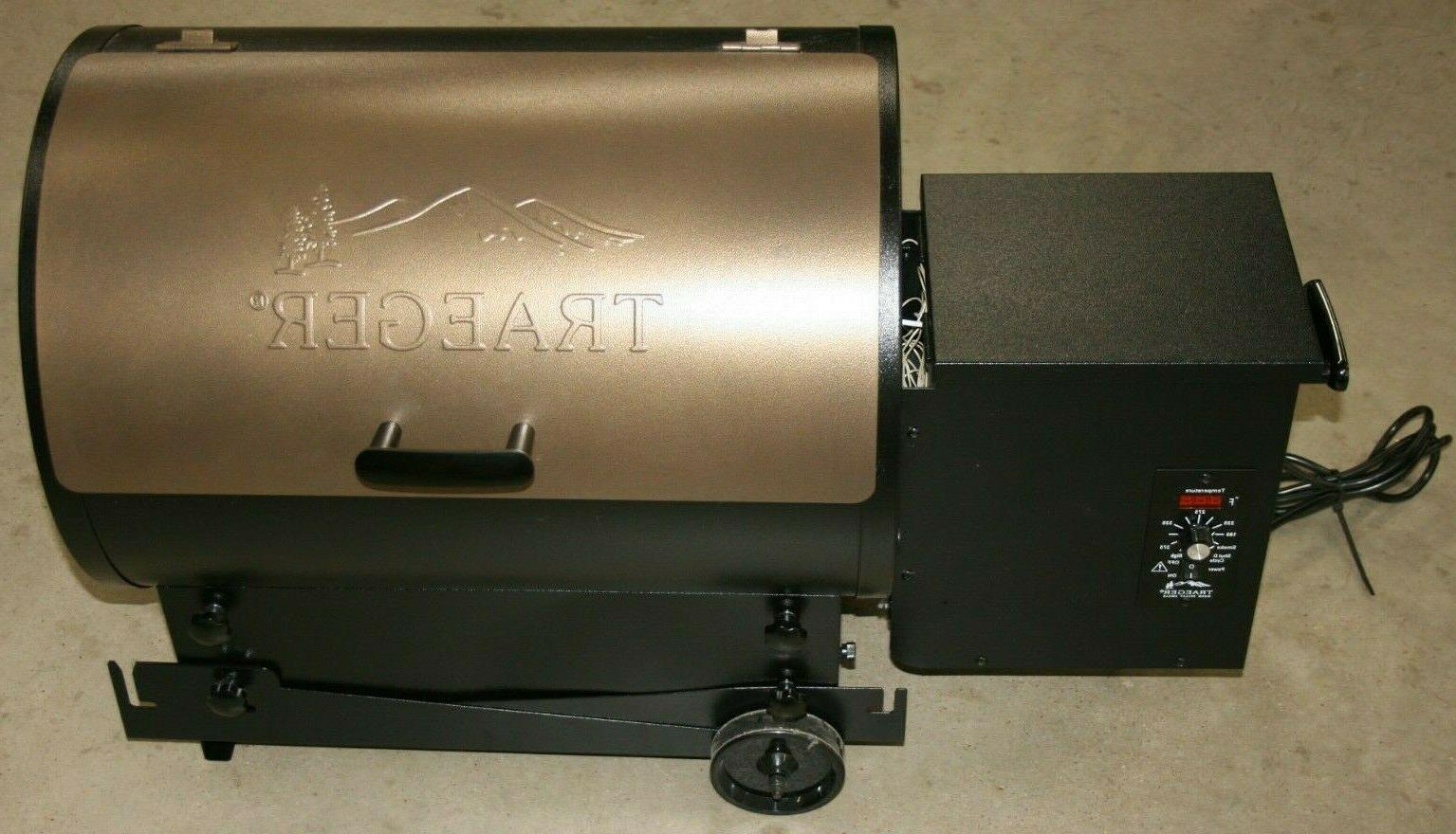 bronze tailgater electric pellet grill