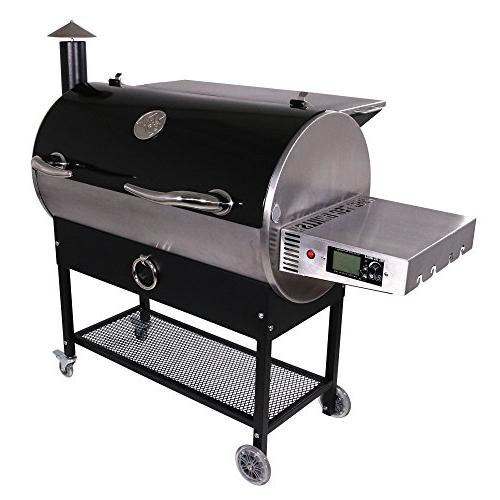 REC Grills | | | Portable Wood Grill | Built Probes Stainless | 40lb Hopper Hotflash Ceramic