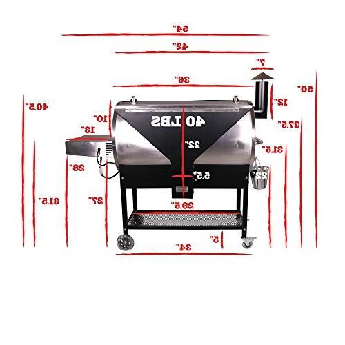REC Grills Bull | RT-700 | Bundle | | Probes Steel | 40lb 6 Hotflash Ceramic Ignition
