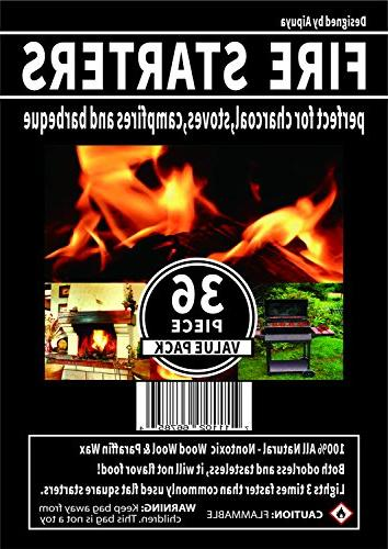 100% All Natural Fire Waterproof,Super Lighting,Perfect for Barbecue Kamado, Smokers, Wood Stove and Campfire