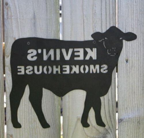 custom smoke house sign name personalized bbq