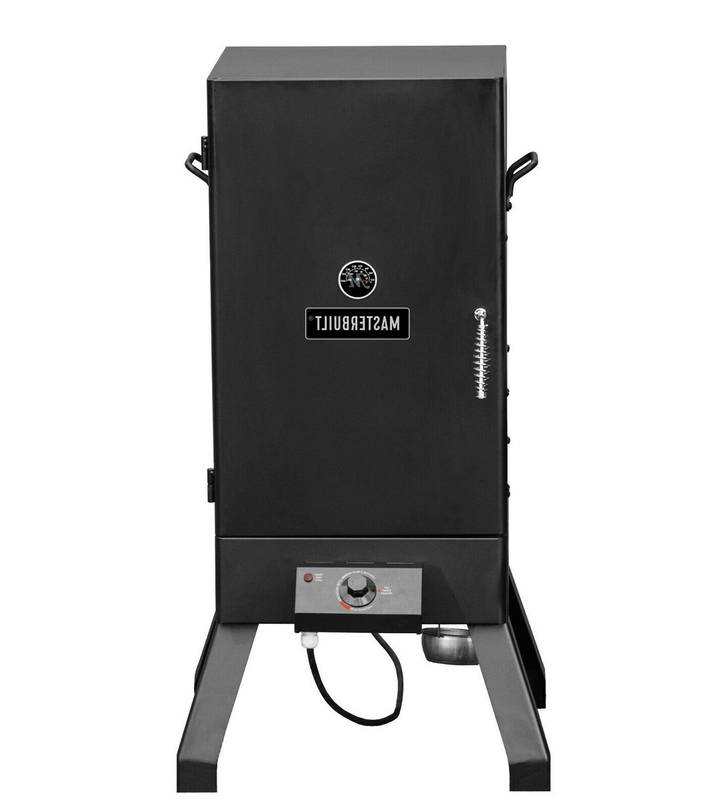 electric smoker outdoor patio cooking grill analog