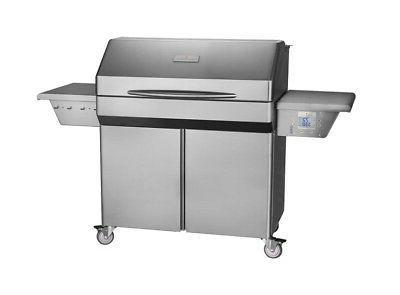 elite wifi pellet grill on cart