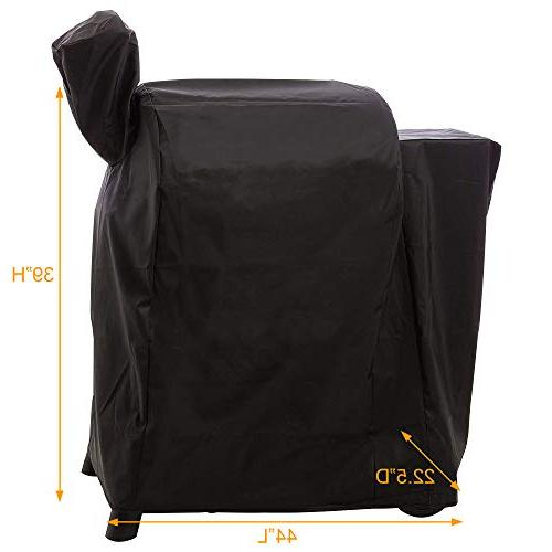 i Grill Cover- Water Outdoor Canvas with Lil Elite 22 Series Grill&Smoker.