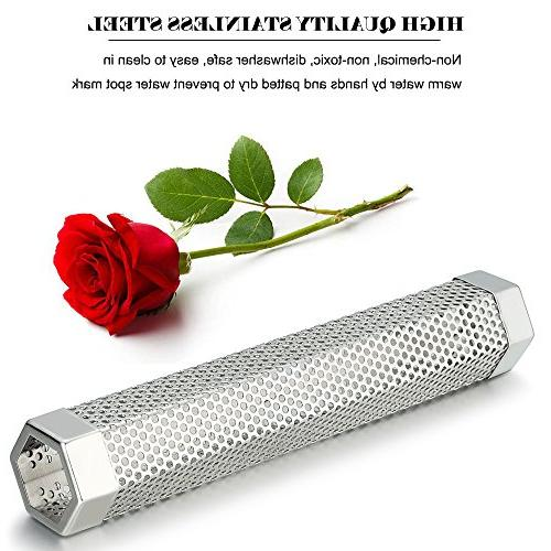 G.a Pellet Smoker Tube Any or Hot Smoking, 5 Hours Smoke, Tasty Steel